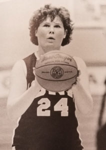 Maggie Timoney's photo from her days playing basketball at Iona.